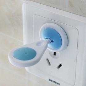 Safety Socket Plug Listrik EU Lock Style 6 PCS - White/Blue - 3
