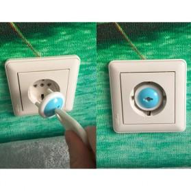 Safety Socket Plug Listrik EU Lock Style 6 PCS - White/Blue - 10