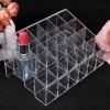 Aksesoris Makeup Lainnya - Kotak Organizer Lipstick Kosmetik Acrylic - C47 - Transparent