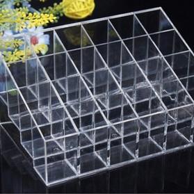 Kotak Organizer Lipstick Kosmetik Acrylic - C47 - Transparent - 2