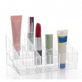 Kotak Organizer Lipstick Kosmetik Acrylic - C47 - Transparent - 3