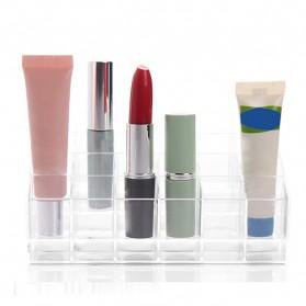 Kotak Organizer Lipstick Kosmetik Acrylic - C47 - Transparent - 4