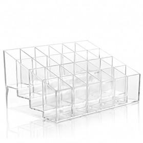 Kotak Organizer Lipstick Kosmetik Acrylic - C47 - Transparent - 5