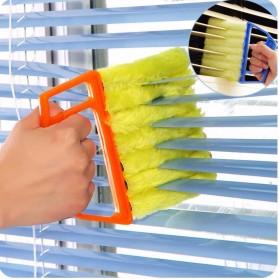 Sikat Brush Microfiber Pembersih Ventilasi Kaca - Yellow