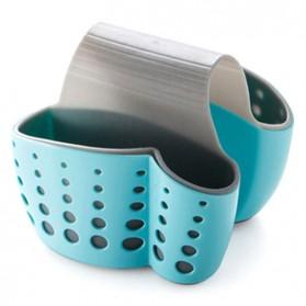 Gantungan Rak Tempat Cuci Piring 2 Slot - Blue