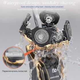 Electric Shaver Alat Cukur Elektrik 5 Blade Comfortcut System - Silver - 4