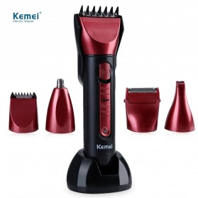 Kemei Alat Cukur Elektrik 5 in 1 Hair Trimmer Shaver - KM-8058 - Red
