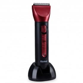 Kemei Alat Cukur Elektrik 5 in 1 Hair Trimmer Shaver - KM-8058 - Red - 5