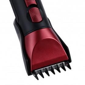 Kemei Alat Cukur Elektrik 5 in 1 Hair Trimmer Shaver - KM-8058 - Red - 7