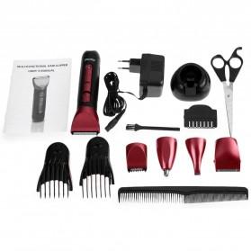 Kemei Alat Cukur Elektrik 5 in 1 Hair Trimmer Shaver - KM-8058 - Red - 10