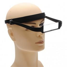 Kacamata Pembesar Baca Magnifier 1.6x-3.5x - Black