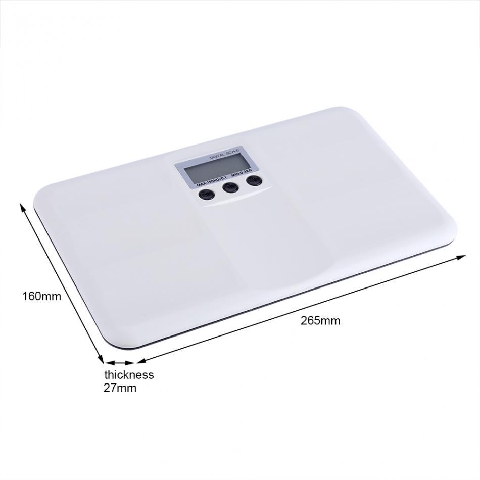 Timbangan Badan Elektronik Memory Function 150kg Lx 02 White Kaca 2