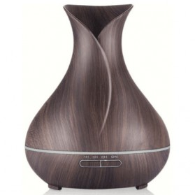 Taffware Air Humidifier Aromatherapy Oil Diffuser Wood Flower - HUMI H217 - Brown