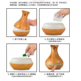 Taffware Air Humidifier Aromatherapy Oil Diffuser Wood Flower - HUMI H217 - Brown - 6