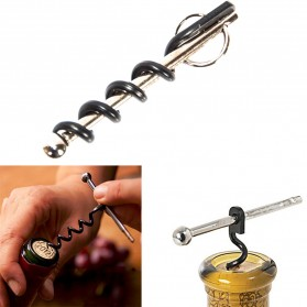 Pembuka Tutup Botol Wine Corkscrew Bottle Opener - Black
