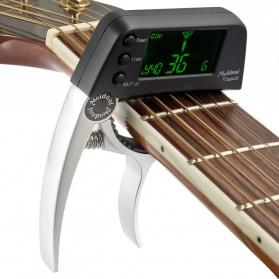 TCapo20 Tuner Gitar dengan Display LCD - Silver