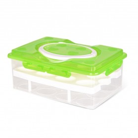 Kotak Penyimpan Telur Egg Tray Box - Green