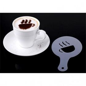 Cetakan Busa Foam Kopi Latte Art 16 PCS - JJYE01 - White - 3