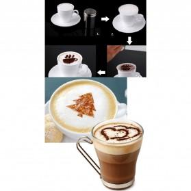 Cetakan Busa Foam Kopi Latte Art 16 PCS - JJYE01 - White - 5