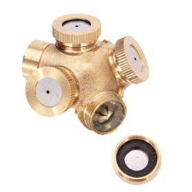 WHISM Sprinkler Spray Nozzle Air Irigasi Taman Copper 4 Holes - WCIC - Copper - 3