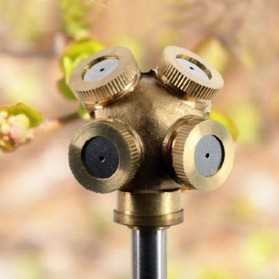 WHISM Sprinkler Spray Nozzle Air Irigasi Taman Copper 4 Holes - WCIC - Copper - 6