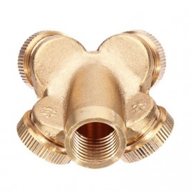 WHISM Sprinkler Spray Nozzle Air Irigasi Taman Copper 4 Holes - WCIC - Copper - 7