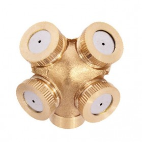 WHISM Sprinkler Spray Nozzle Air Irigasi Taman Copper 4 Holes - WCIC - Copper - 8