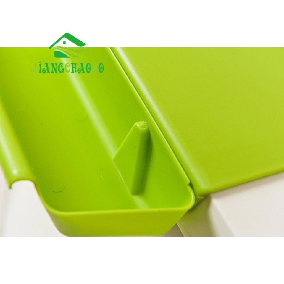 Talenan 2 In 1 Dengan Wadah Serbaguna Green Plastik Cd 4
