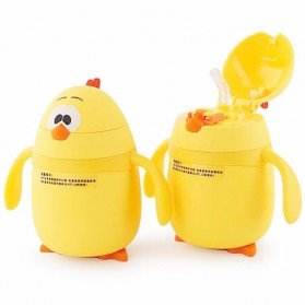 Botol Thermos Anak Lucu Model Anak Ayam 200ML - Yellow