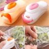 Stapler - Mini Hand Sealer Plastik Wrap - Pink