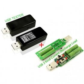 DC Voltmeter USB Tester - Black
