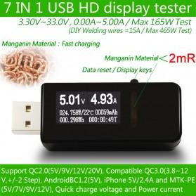 DC Voltmeter USB Tester - Black - 6