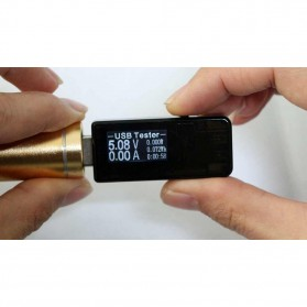 DC Voltmeter USB Tester - Black - 9