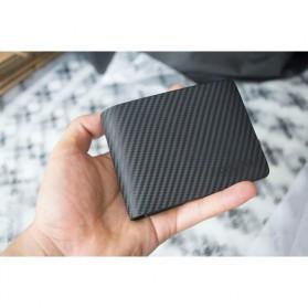 QIWANG Dompet Kulit Pria Elegan - SW8001 - Black - 8
