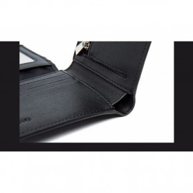 QIWANG Dompet Kulit Pria Elegan - SW8001 - Black - 11