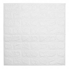 Sticker Wallpaper Dinding 3D Embosed Model Bata 60x30cm - White