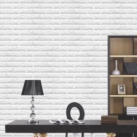 Sticker Wallpaper Dinding 3D Embosed Model Bata 60x30cm - White - 4