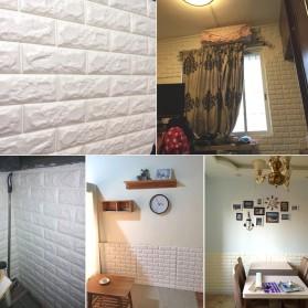 Sticker Wallpaper Dinding 3D Embosed Model Bata 60x30cm - White - 5