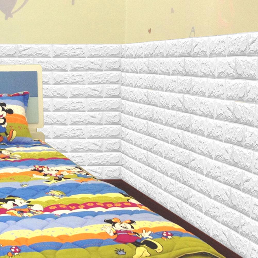 Sticker Wallpaper Dinding 3D Embosed Model Bata 60x30cm White JakartaNotebook