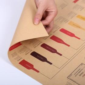 Poster Dinding Dekorasi Bar Basic Wine Guide - Brown - 3