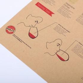 Poster Dinding Dekorasi Bar Basic Wine Guide - Brown - 5