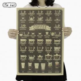 Poster Dinding Dekorasi Bar Coffee Cafe - Brown