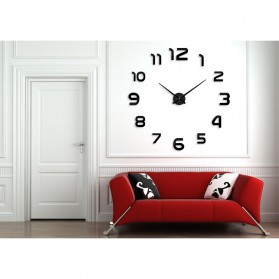 Taffware Jam Dinding Besar DIY Giant Wall Clock Quartz Creative Design 80-130cm - DIY-105 - Silver - 2