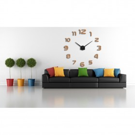 Taffware Jam Dinding Besar DIY Giant Wall Clock Quartz Creative Design 80-130cm - DIY-105 - Silver - 3