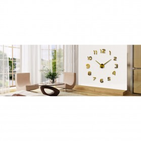 Taffware Jam Dinding Besar DIY Giant Wall Clock Quartz Creative Design 80-130cm - DIY-105 - Silver - 4