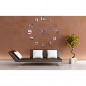 Taffware Jam Dinding Besar DIY Giant Wall Clock Quartz Creative Design 80-130cm - DIY-105 - Silver - 6