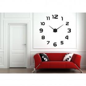 Taffware Jam Dinding Besar DIY Giant Wall Clock Quartz Creative Design 80-130cm - DIY-105 - Black - 2