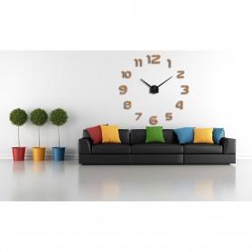 Taffware Jam Dinding Besar DIY Giant Wall Clock Quartz Creative Design 80-130cm - DIY-105 - Black - 3