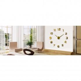 Taffware Jam Dinding Besar DIY Giant Wall Clock Quartz Creative Design 80-130cm - DIY-105 - Black - 4