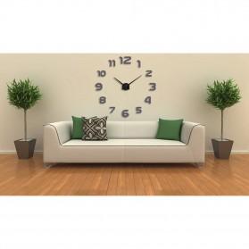 Taffware Jam Dinding Besar DIY Giant Wall Clock Quartz Creative Design 80-130cm - DIY-105 - Black - 5